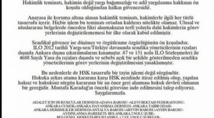 HSK'ya ÇAĞRI